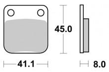 Brzdové destičky SBS 536SI