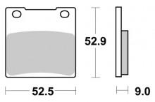 Brzdové destičky SBS 556HF