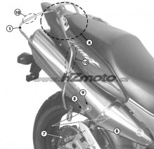 Honda CB 600F Hornet/S (98-06) - podpěry bočních brašen Givi T214
