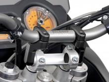 Zvýšení řidítek Vario o 50-60 mm, pro řídítka Ø 28 mm, černé, SW-Motech