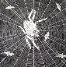 Bavlněný šátek - Pavouk