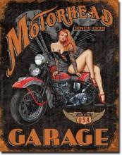 Legends - Motorhead Garage - plechová cedule, 40x32 cm