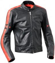 Halvarssons Seventy kožená motocyklová bunda Black/Red